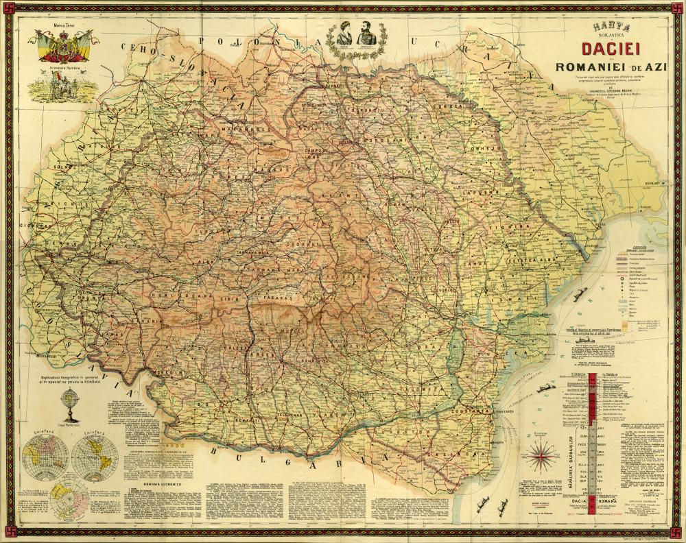 Cartografii Sonore Harta Scolastică A Daciei Si A Romaniei De Azi